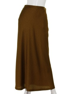 ハンマーサテンドットナロースカート