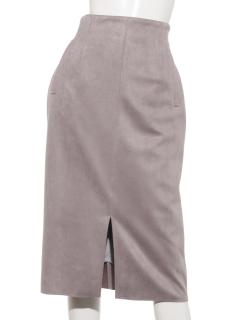 ストレッチフェイクスエードタイトスカート