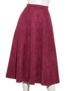 スエードポンチフレアースカート