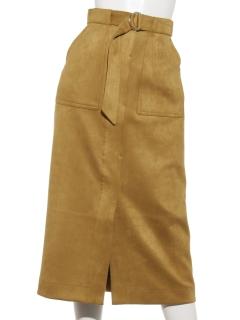 スエードポンチタイトスカート