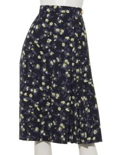スプリングフラワープリントスカート