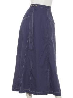 リネンコットンラップマキシスカート