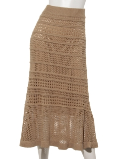 透かし編みロングスカート