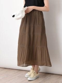 ティアードナロープリーツスカート
