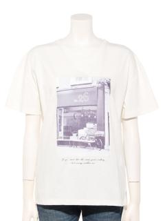 コットンフォトプリントTシャツ