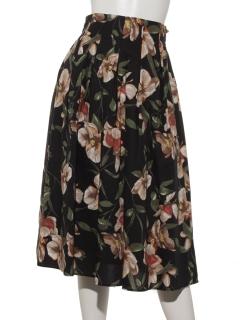 綿ブロード花柄スカート