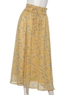 ドビーフラワープリントスカート