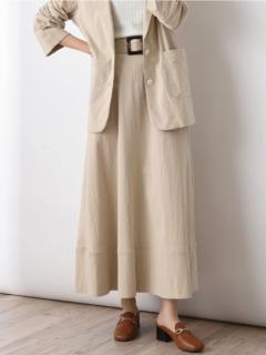 エコリネン共ベルト付スカート
