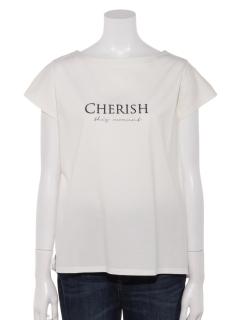 シルケットコットン刺繍ロゴTシャツ
