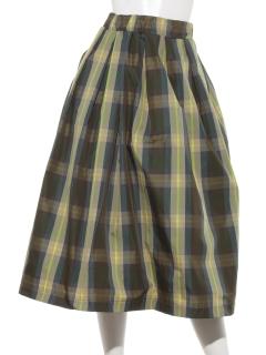 【INTERPLANET WINGS】メモリーチェックボリュームスカート