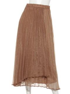 グロスクレープラップ風プリーツスカート