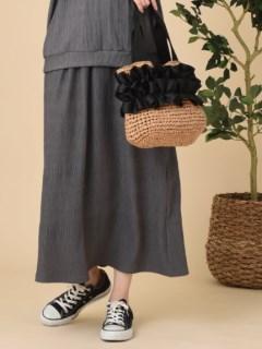 エステル楊柳ギャザースカート