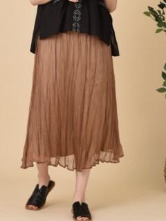 グロスクレープ特殊プリーツスカート