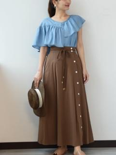 パイピングデザインスカート