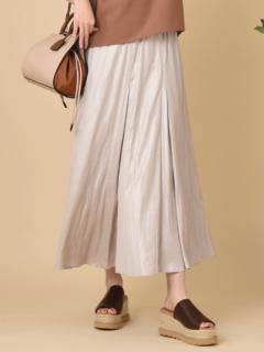 レザーライクサテンスカート