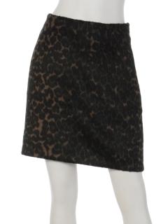 シャギーレオパードスカート