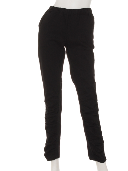 INGRID OUTLET (イングリッドアウトレット) ストレッチギャザーパンツ ブラック