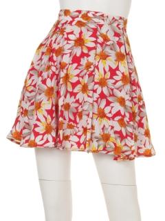 ひまわりパンツフレアスカート