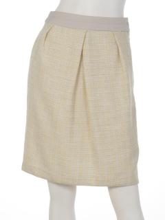 ラメmixツィードノーカラースカート♪