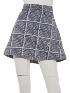 MGハウンドトゥースプリントスカート