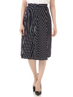 [宇賀なつみさん、松村未央さん着用]ペンシルストライプスカート
