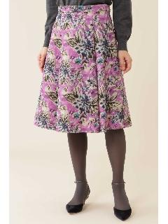 《Purpose》ジャガードグランドフラワープリントスカート