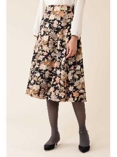 [洗える]《Purpose》デジタルフラワースカート