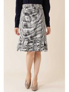 ◆グレンチェックペプラムスカート