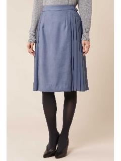 [TV着用]エルモザスエードサイドプリーツフレアスカート