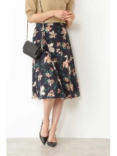 ◆[ウォッシャブル]フラワープリントスカート