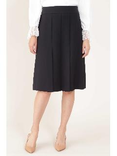 ◆[ウォッシャブル]リラクショントリプルフロントソフトプリーツAラインスカート