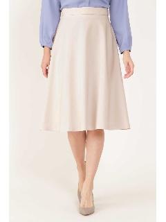◆[ウォッシャブル]ダブルクロスフレアーカラースカート