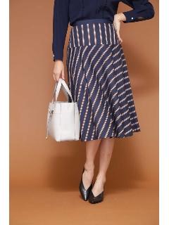 ◆[WEB限定商品]サテンストライプフレアースカート
