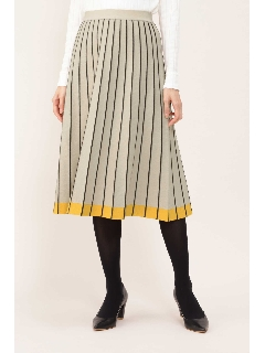◆ボーダープリーツスカート
