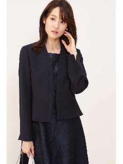 ◆ノーカラーV衿ジャケット