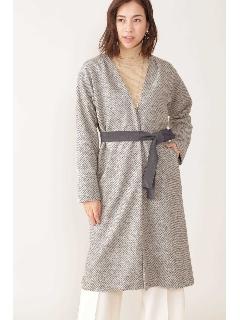 綾目柄ジャージー羽織りコート