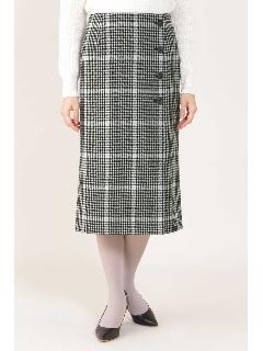 [ドラマ着用]◆千鳥チェックストレートスカート