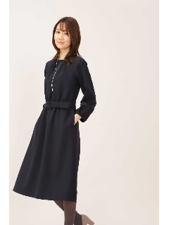 [ドラマ 桜井ユキさん着用]◆ダブルクロスベルト付フレアワンピース