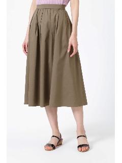 [ウォッシャブル]ツイルミディ丈スカート