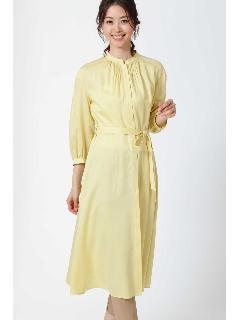 [水沢エレナさん着用]フィブリルサテンピンタックディテールワンピース