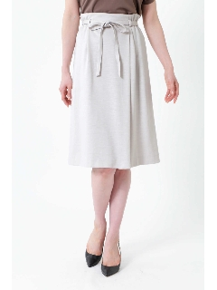 ◆[ウォッシャブル]ミラノリブリボン付スカート