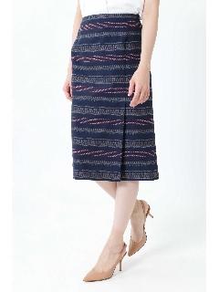 ◆ステッチジャカードタイトスカート