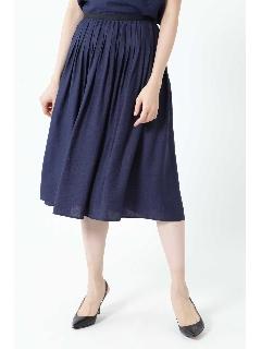 ◆麻混ピンタックセットアップスカート