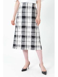 ◆[WEB限定商品]ビッグチェックロングタイトスカート