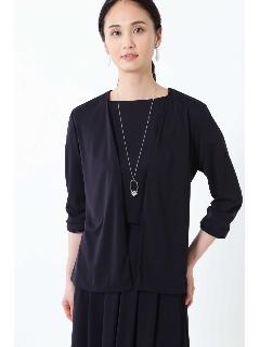 ◆[ウォッシャブル]ドライスムースタックデザイントッパージャケット