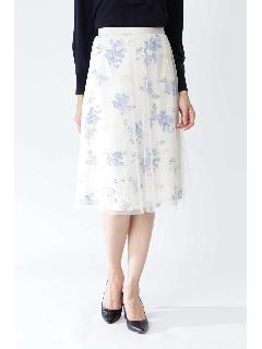 ◆フラワープリントチュールスカート