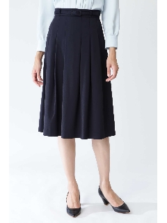 ベルト付グログランスカート