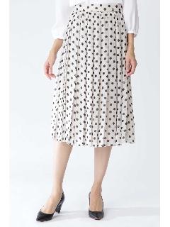 ◆シフォンドットプリントプリーツスカート