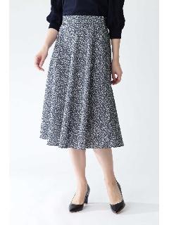 ◆[ウォッシャブル]ジオメトリックリーフリバティプリントスカート