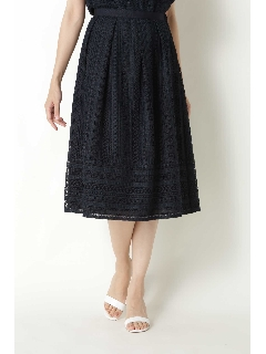 ◆裾切り替えタックレーススカート